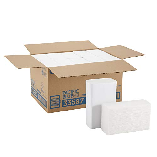 Bigfold Pacific Blue Ultra Premium Recycled Paper Towels previously branded Big Fold Z by GP PRO Georgia-Pacific White 33587 220 Paper Towels Per Pack 102 x 108 Recycled Paper Pack of 10