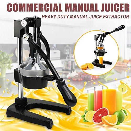 Yaheetech Heavy Duty Press Orange Comercial Manual Citrus Juicer Juice Lemon Extractor Black