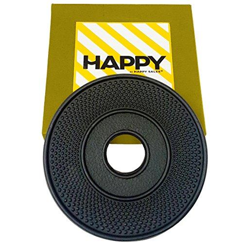 Happy Sales HSTV-ABK01  Cast Iron Trivet ARR Black