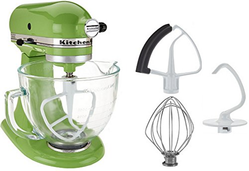 KitchenAid 5-Qt Tilt-Head Stand Mixer with Glass Bowl and Flex Edge Beater - Green Apple