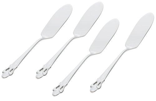 Ginkgo International Fleur de Lis Stainless Steel Butter Spreaders Set of 4