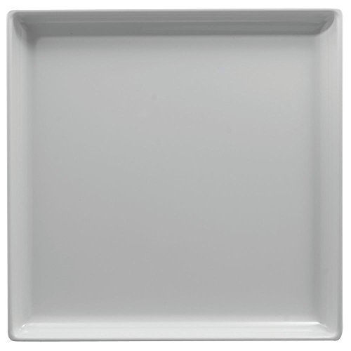 Square Serving Tray White Melamine - 14L x 14W x 1 12H