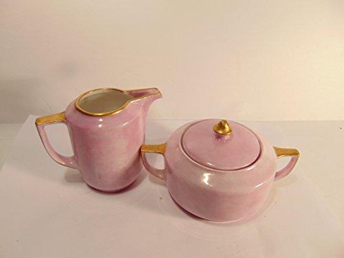 Thomas Bavaria Pink Porcelain Creamer and Sugar Set