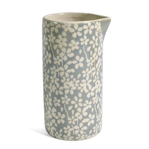 Bloomingville Seeke Floral 8-ounce Ceramic Creamer GrayIvory
