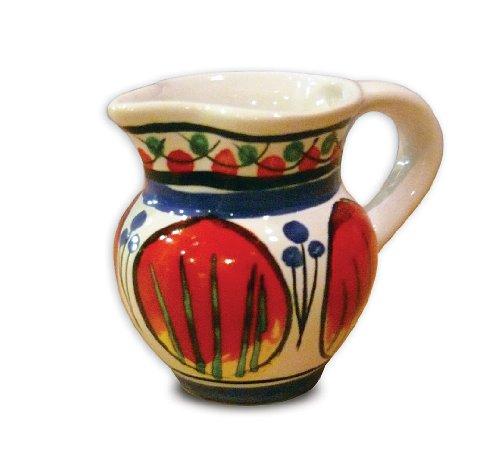 Italian Pottery Hand Painted Bellarte Allegria Ceramic Creamer