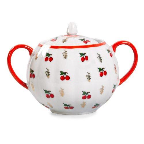 Dulyovo Porcelain Calico Sugar Bowl