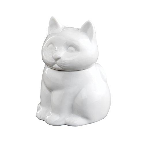 HIC Cat Sugar Bowl Fine White Porcelain