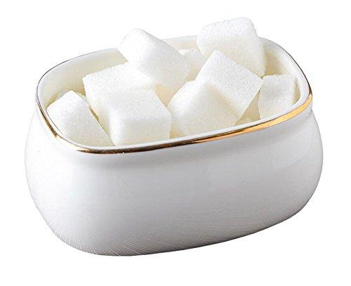 Porcelain Sugar Bowl for Coffee and Tea