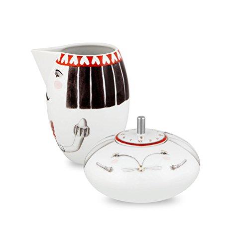 VISTA ALEGRE - TEA WITH ALICE Alice In Wonderland Ref  21116979 Porcelain Sugar Bowl Milk Jug Set