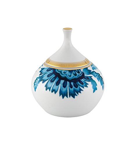 Vista Alegre Porcelain Gold Exotic Sugar Bowl