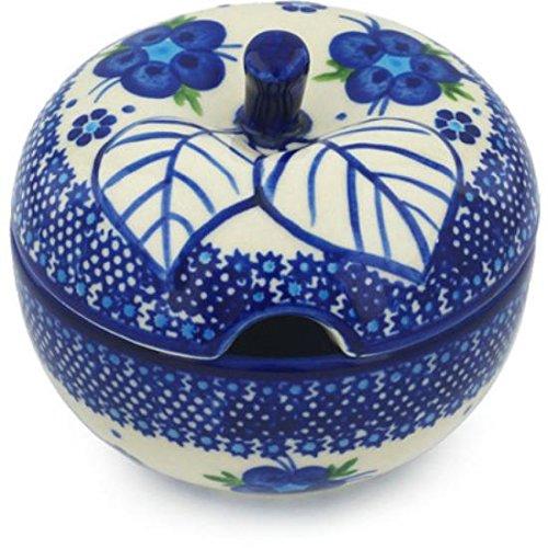 Ceramika Bona H0643H Polish Pottery Ceramic Sugar Bowl Hand Painted 15-Ounce