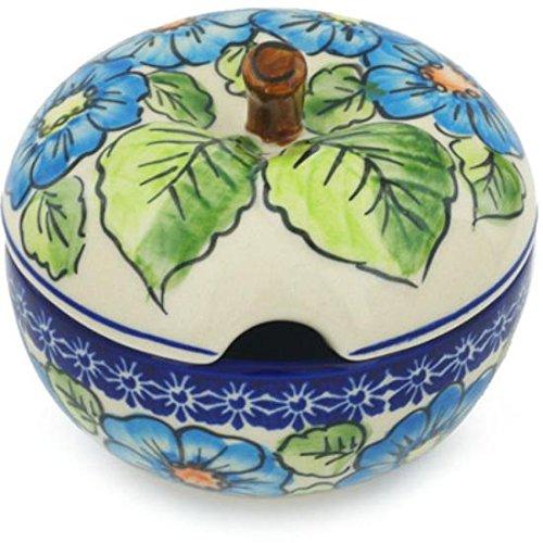 Ceramika Bona H1254H Polish Pottery Ceramic Sugar Bowl Hand Painted 15-Ounce