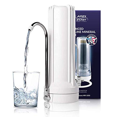 APEX Countertop Drinking Water Filter - Alkaline White