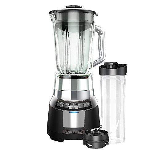 BLACKDECKER FusionBlade Digital Blender with 6-Cup Glass Jar BlackStainless BL1820SG-P