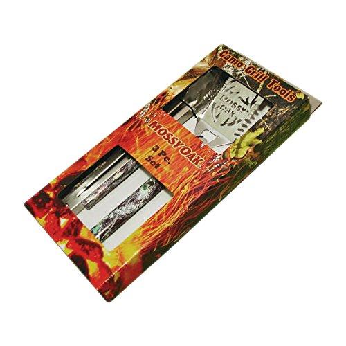 Havercamp Mossy Oak Camo Grill Tools Spatula Tongs Fork 3pc Set