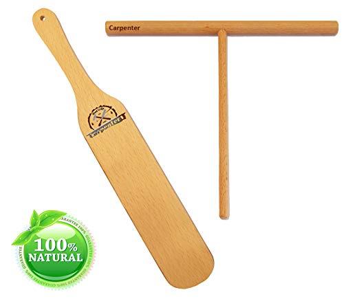 Crepe Spreader Stick  7 Spreader Stick  12 Spatula  Spatula Turner - Natural Handmade Crape Makers - Crepe Set Kit Tools Pancake Maker - Best Gift for Crepe Lovers Set of 2
