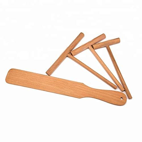 Original Crepe Wooden Spreader and Spatula Set-4 piece 35 5 7 Spreaders and 13 Spatula