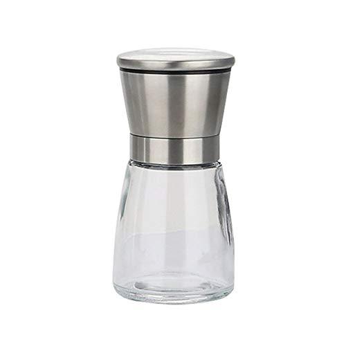 anglebless Stainless Steel Pepper Mill Grinder Manual Salt Pepper Shakers Herb Mill Grinder Adjustable Pepper Grinder