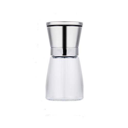 WJUKC Transparent Seasoning Supplies Manual Portable Stainless Steel Pepper Grinder coarse Salt Mill Kitchen Seasoning Tools