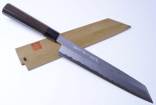 Yoshihiro High Carbon Blue Steel Damascus Kiritsuke Sushi Chefs Knife 105