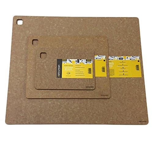 Epicurean Standard Cutting Board 3 Piece 10x7 14x11 and 19x15- Natural