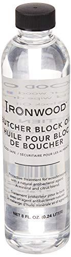 Ironwood Gourmet 28122 Butcher Block Cutting board oil 175 x 175 x 675 inches Clear