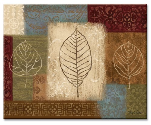 Counterart Leaf Collage Glass Cutting Board, 15 X 12 Inches