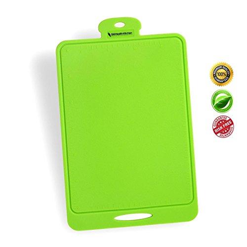 Silicone Cutting Board - Flexible, Durable, Dishwasher Safe, Nonslip For Chopping Mat - Green