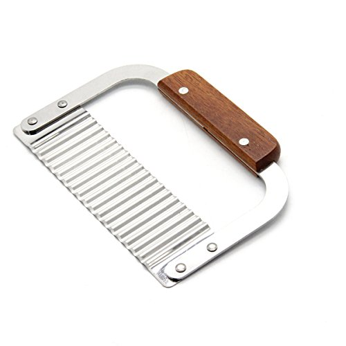 Mochiglory Wooden Handle Corrugated Knife French Fry Slicer Handmade Soap Cutting Device