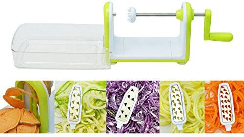 Southern Homewares SH-10178 5 Blade Spiral Table Top Fruit Vegetable Slicer Zucchini Spaghetti Noodle Maker