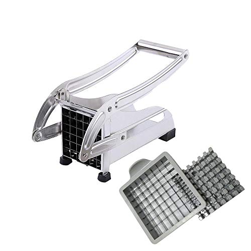 Euone  Potato Dicer ClearanceSales Stainless Steel French Fry Cutter Potato Vegetable Slicer Chopper Dicer 2 Blades