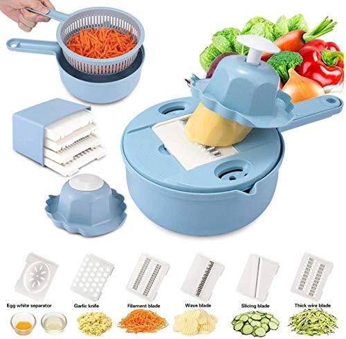 Vegetable slicer chopper dicer - Etobuy - Vegetable slicer chopper - Vegetable slicer mandoline