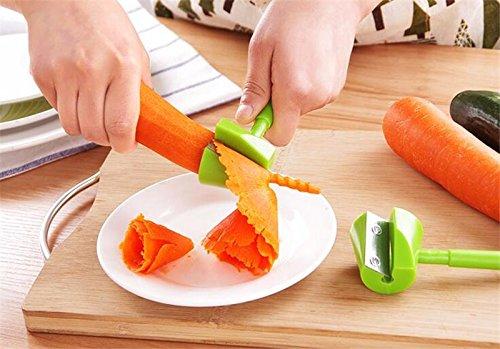 Xiangtat Carrot Garnishes Stainless Steel Cucumber Flower Curler Decorating Maker Long Handle Vegetable Shredders Slicer