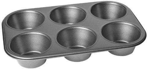 Chloes Kitchen 201-133 Muffin Pan Jumbo 6-Cavity Non-Stick