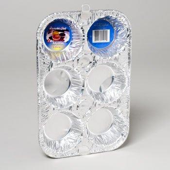 RGP D15020 875 X 575 X 183 Aluminum Muffin Pan 6 Cavity - Pack Of 12