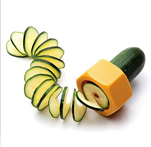 Flee Kitchen Tool Veggie SpiralizerMultifunction Potato MasherPractical Spiral Slicer Banana Slicers Perfect Vegetable Fruit Cooking Tools Cucumber Cutter