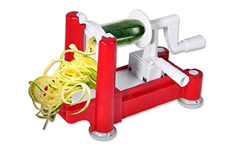 Veggie Pasta Deluxe - Ultimate Vegetable Spiralizer Vegetable Spiral Slicer Spiral Vegetable Slicer Tri-Blade Zucchini Veggie Noodle Pasta Maker Spiralizers