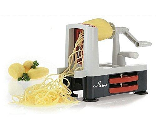 Veggie pasta maker spiralizer vegetable slicer spiral noodle maker potato chip and spiral noodle pasta maker for Gluten free low carb meals