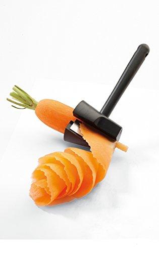 Gouptec Plastic Slicers Carrot Vegetable Fruit Spiral Shred Process Device Cutter Slicer Peeler Kitchen Tool Wave type Shredder with handle
