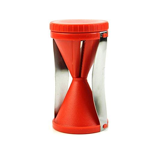 Hunulu Hot Spiral Slicer Cutter Kitchen Tool Fruit Vegetable Spiralizer Twister Peeler red