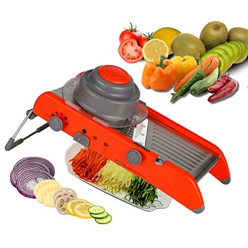 Mandoline slicerAdjustable Mandoline Slicer Kitchen Stainless Steel Manual Cutter Shredder Julienne for Slicing Food Fruit Vegetables