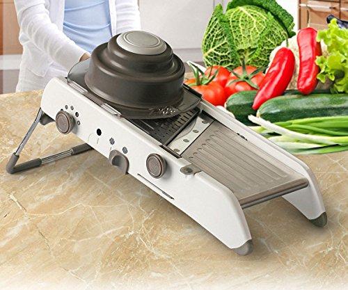 Vegetable Slicer - VinMas Adjustable Mandoline Slicer - Food Stainless Steel Blades Cutter 18 Kinds of Slices and Shreds