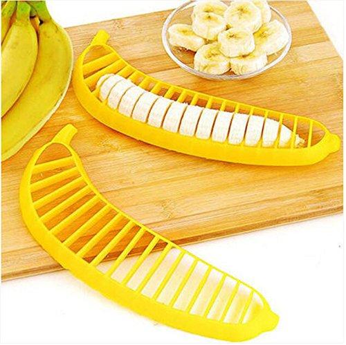 Banana Slicer - Kitchen Gadgets Plastic Banana Slicer Cutter Fruit Vegetable Tools Salad Maker Cooking Tools - Banana Saver
