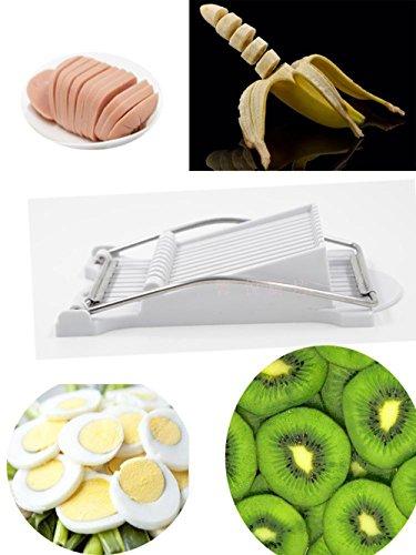 CCHLO Stainless Steel Banana Slicer New Design Fruits Vegetables Eggs Cutter Multifunction Food Slicer