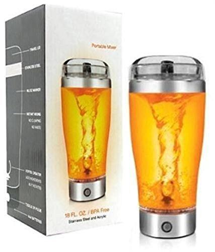Angelwing Protein Shaker Tornado Vortex Mixer Portable Mug 18 Oz Battery Shake Blender