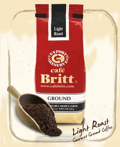 Cafe Britt Costa Rica Light Roast Ground Coffee 12 Ounce Bag