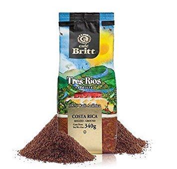 Cafe Britt Single Origin Costa Rica Tres Rios Medium Roast Ground Gourmet coffee 100 Arabica 12 oz Kosher certified