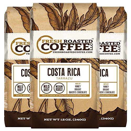 Costa Rica Tarrazu Coffee 12 oz Ground Bags Fresh Roasted Coffee LLC 3 Pack