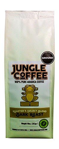 Jungle Costa Rica Coffee Ground Dark Roast All Natural Fresh Roasted Arabica Coffee 10 oz