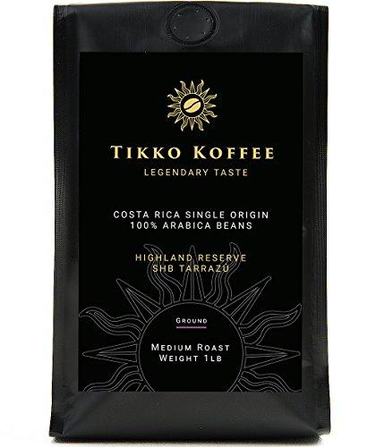 Tikko Koffee Single Origin Costa Rica Tarrazu Ground Coffee 100 Arabica Medium Roast 1 lb16 oz Gourmet